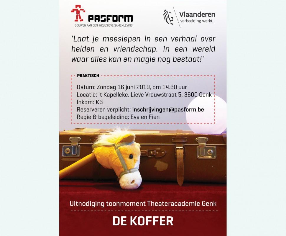 DE KOFFER, Toonmoment Theateracademie Genk: 16 juni